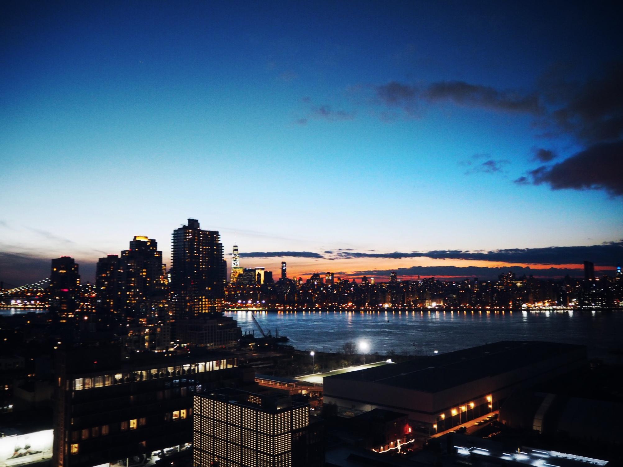 Min utsikt over Manhattan fra balkongen.